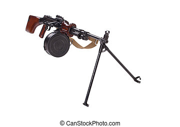 soviet army machinegun RPD isolated