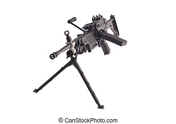 infantry machinegun isolated