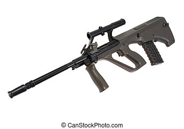 assault rifle isolated