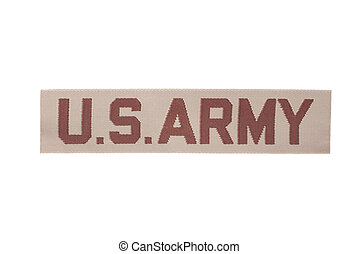 us army army desert camouflage uniform name badge