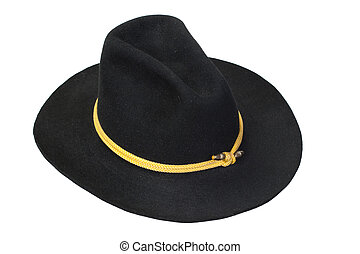 US Cavalry black hat isolated