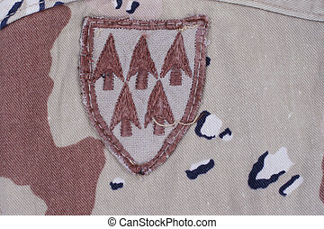 patch on american soldier uniform