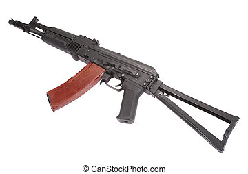 Kalashnikov AK-105 modern assault rifle on white