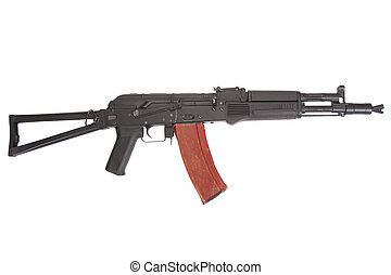 Kalashnikov AK 105 modern assault rifle on white