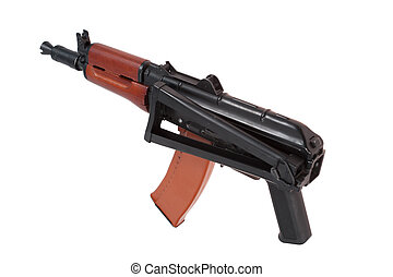 kalashnikov airborn aks74u isolated on a white background
