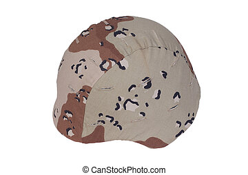 us marines kevlar helmet with a desert camouflage cover