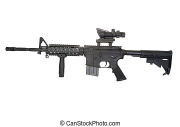 Colt M4A1 isolated on a white background