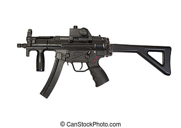 submachine gun isolated