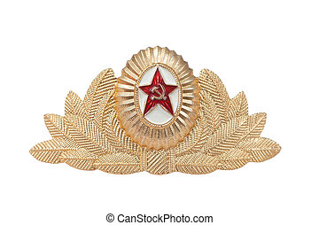 cap badge for the Soviet Army