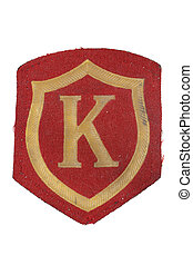soviet army military police forces badge isolated