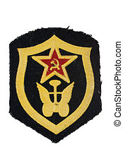 soviet army automobile troops badge isolated