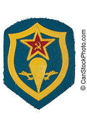 soviet army airborne forces badge isolated