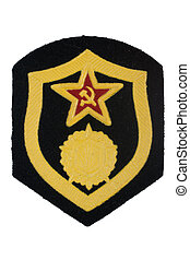 soviet army chemical forces badge isolated