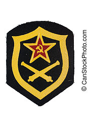 soviet army artillery badge isolated