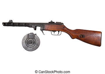 submachine gun isolated on a white background