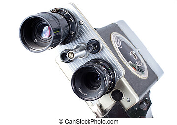 Vintage Retro Movie Camera - Vintage Retro Movie Camera...