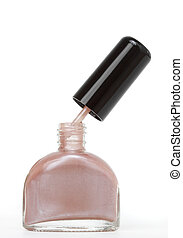 nail polish - bottle of nail polish, white background