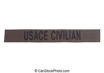 usace civilian uniform badge