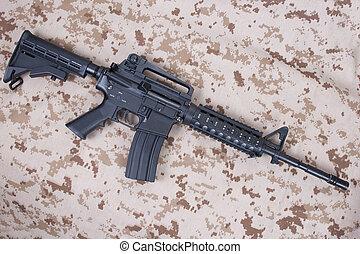 carbine, nós, uniforme, camuflagem,  marines,  m4a1