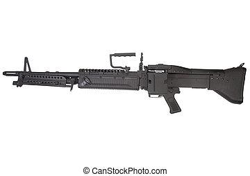 m60, máquina, blanco, arma de fuego, aislado