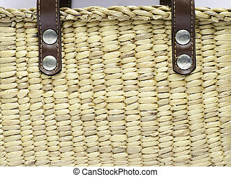 Wicker basket close-up