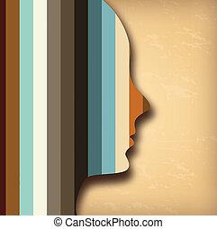 profile design over vintage background vector illustration