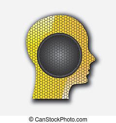 audio profile over white backgorund vector illustration
