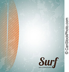 surfboard design over vintage background vector illustration...