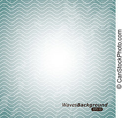 waves background - waves design over blue background vector...