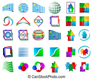 set of logos 030613 - Mega collection of different colored...