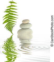 Zen Elements - Zen abstract of three spa stones in perfect...