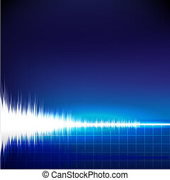 Sound wave abstract background