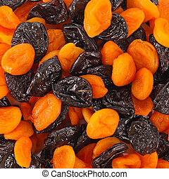 Mixed dried fruits background