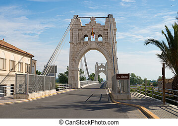 Ebro bridge - Bridge over Ebro river at Amposta, Spain