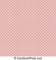 Seamless pink polka dots patten on textured paper