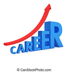Career Opportunities - The word career as a ladder and arrow...