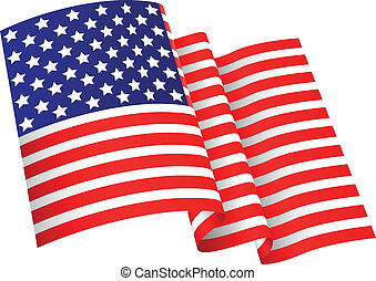 American flag background - Vector illustration of American...