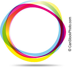 Colorful ring logo - Vector illustration of Colorful ring...