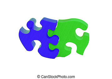 2 pieces of wooden puzzle