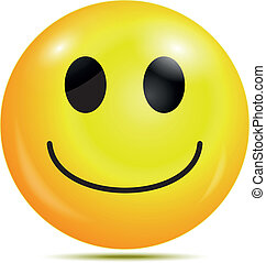 Happy smiley emoticon - Vector illustration of Happy smiley...