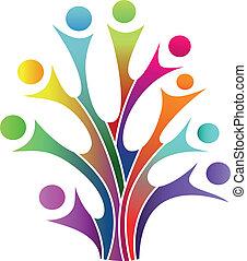 Family tree symbol - Vector illustration of Family tree...