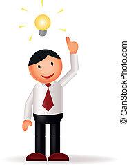 businessman & idea - Vector illustration of businessman &...