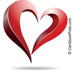Logo heart shape design - Vector illustration of Logo heart...