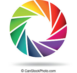 Colorful shutter aperture - Vector illustration of Colorful...