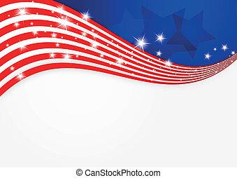 アメリカ人, 旗, 背景