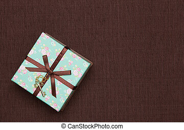 This is a photograph of a gift box of floral design.