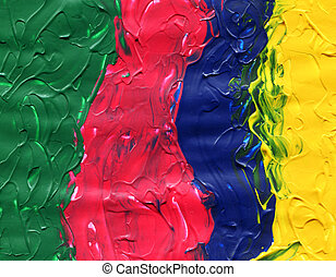 Four acrylic paint colors with texture - Four colored...