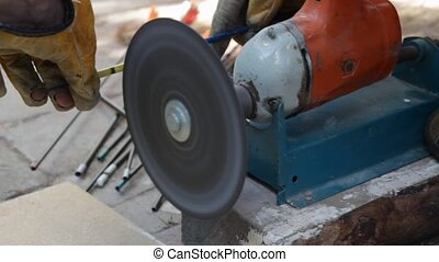 circular saw  - Worker With Circular Saw