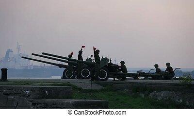 artillery fire shooting