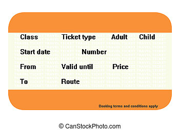 Blank travel ticket